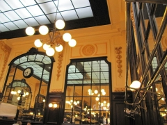 Bouillon Chartier - English: Chartier, a very old popular restaurant with moderate prices and typical French cuisine. No originality but good simple bourgeoise cuisine. The room and the decoration are alone worth the visit.