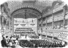 Ancien conservatoire National de Musique et de Déclamation - English: A performance in the concert hall of the Paris Conservatory of Music (presumably after the renovation of 1864)