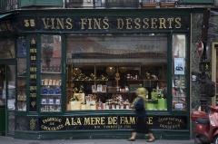 Epicerie fine A la mère de famille - English: À la mère de famille, dessert wines and candy shop, 35 Rue du Faubourg Montmartre, Paris.