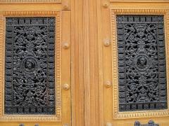 Immeuble - English: Detail of ornated door: 3bis rue d'Athènes, Paris 9th arr.