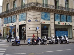 Immeubles aux abords de l'Opéra (voir aussi : 25, 27, 29, 31 bd Haussmann, Immeuble de la Société Générale) - العربية: 6, Rue Scribe. 75009 Paris - مكتب طيران الشرق الأوسط في باريس.