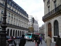 Immeubles aux abords de l'Opéra (voir aussi : 25, 27, 29, 31 bd Haussmann, Immeuble de la Société Générale) - English: Rue Halévy no 14, IXe arrondissement, Paris, France.