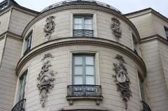 Immeuble ou ancien Hôtel de la Haye - Deutsch: Hôtel Radix de Sainte-Foix: Ecke 2, boulevard de la Madeleine/1-3, rue de Caumartin in Paris (9. Arrondissement)