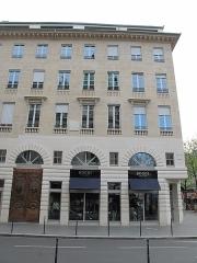 Immeuble - English: Building at 2 rue de la Chaussée-d'Antin à Paris (France) where lived the italian composer Rossini (plaque).