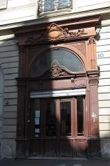 Immeuble - Deutsch: Rue Duperré n° 34 im 9. Arrondissement in Paris (Île-de-France/Frankreich), Hauseingang