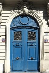 Immeuble - Deutsch: Rue de Douai n° 22 im 9. Arrondissement in Paris (Île-de-France/Frankreich), Haustür