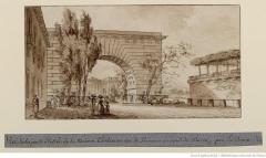 Immeuble -  Vue de la porte d'entrée de la Maison Thellusson, rue de Provence au nord de Paris