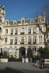 Immeuble ou hôtel de Bernis - Deutsch: Hôtel de Bernis, auch Hôtel de la Païva, an der Place Saint-Georges im 9. Arrondissement in Paris (Île-de-France/Frankreich)