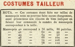 Magasin du Printemps -  COSTUMES TAILLEUR