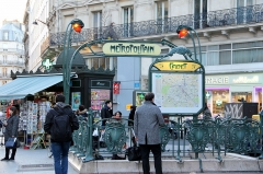 Métropolitain, station Cadet -  Cadet metro station, Paris.