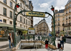 Métropolitain, station Cadet - English: Cadet metro station, Paris, France.