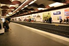 Métropolitain, station Opéra -  Metro station Opera, Paris.