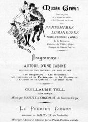 Musée Grévin (voir aussi : passage Jouffroy) - English: The program of the first performance in Musée Grévin, Paris 1892.