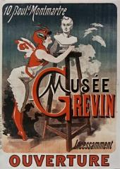 Musée Grévin (voir aussi : passage Jouffroy) -  10, Boul[evar]d Montmartre, Musée Grévin, incessamment ouverture: affiche