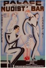 Le Palace - English: Palace Nudist'Bar, poster by Zig.