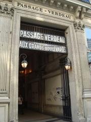 Passage Verdeau - English: Entrance of the passage Verdeau in Paris