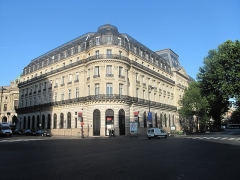 Immeuble de la Société Générale - English: Overview of the buiding of the headquarters of tha Société Générale, boulevard Haussmann in Paris, France