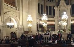 Synagogue - Français:   Haim Korsia, grand rabbin de France pendant son allocution