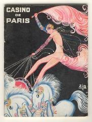 Casino de Paris - Publicité pour la revue Paris qui brille au Casino de Paris, par Louis Gaudin dit Zig. Le personnage est Mistinguett.