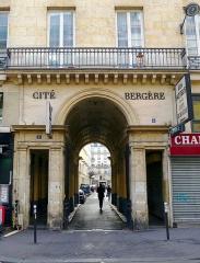 Cité Bergère - English: Rue du Faubourg-Montmartre - Paris IX