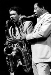 Théâtre de l'Olympia - English: American tenor saxophone players Lee Allen and Herb Hardesty in Paris, France