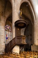 Eglise Saint-Malo - Français:  Chaire de l'église Saint-Malo de Dinan (France)