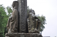 Croix de calvaire - English: Calvary of Louais Street  (Saint-Quay-Portrieux, Brittany), detail