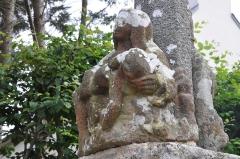 Croix de calvaire - English: Calvary of Louais Street (Saint-Quay-Portrieux, Brittany), pieta