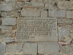 Eglise Saint-Jean - Français:   Inscription sur le mur sud du transept (inscription à droite)