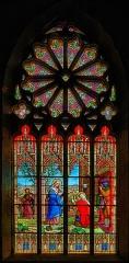 Eglise Saint-Jean - Français:   Visitation.  Vitrail signé F.Haussaire[1] et Léon Payan[2], 131 rue de Vaugirard, 1903.