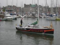 Groupe de deux maisons identiques - Français:   Sortie du port de Paimpol pour prendre le départ de la première étape de la Solitaire du Figaro 2012