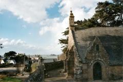 Chapelle de Port-Blanc - Brezhoneg: Perwenan. Porzh-Gwenn. Chapel. An tour hag an nor.