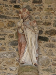 Eglise Saint-Jacques - Français:   Église Saint-Jacques de Perros-Guirec (22). Statue de Saint-Jacques au porche occidental.