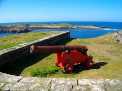 Fort de l'île aux Moines, dans l'archipel des Sept-Iles - Français:   Batterie