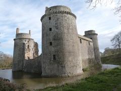 Château de la Hunaudaye - Français:   Château de La Hunaudaye et douves (Plédéliac, Côtes-d\'Armor)