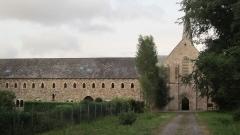 Abbaye de Boquen - Français:   Bâtiment des moines et église abbatiale de l\'abbaye cistercienne de Boquen, dans les Côtes-d\'Armor