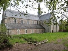 Abbaye de Boquen - Français:   Façade sud de l\'église abbatiale