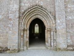 Abbaye de Boquen - Français:   Portail de l\'église de l\'abbaye de Boquen