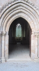 Abbaye de Boquen - Français:   Entrée de l\'abbatiale de l\'abbaye cistercienne de Boquen, dans les Côtes-d\'Armor