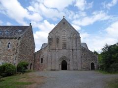 Abbaye de Boquen - English: Exterior of Abbey Church, Abbaye de Boquen