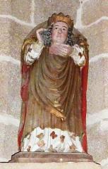 Eglise Saint-Milliau - Français:   Ploumilliau (Côtes-d\'Armor), église Saint-Milliau: statue de saint Milliau portant sa tête tranchée