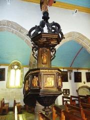 Eglise Saint-Milliau - Français:   Ploumilliau, église paroissiale Saint-Milliau, chaire à prêcher
