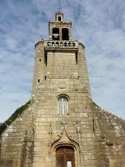 Eglise Saint-Raymond, ou Saint-Rumon - Français:   Façade et clocher de l\'église Saint-Raymond d\'Audierne.