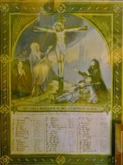 Chapelle Saint-Sébastien de Guernilis - Français:   Briec: chapelle Saint-Sébastien de Garnilis, tableau commémoratif des morts de la Première guerre mondiale de la \