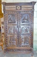 Chapelle Saint-Sébastien de Guernilis - Français:   Briec: chapelle Saint-Sébastien de Garnilis, armoire de \