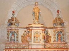 Eglise Saint-Hilaire - Français:   Clohars-Fouesnant: église paroissiale Saint-Hilaire, retable du XVIIe-XVIIIe de l\'autel de la Vierge (probablement frères Le Dean de Quimper)