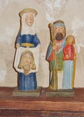 Eglise Saint-Hilaire - Français:   Clohars-Fouesnant: église paroissiale Saint-Hilaire, petites statues dont celle de sainte Véronique portant le Saint-Suaire avec le visage du Christ