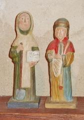 Eglise Saint-Hilaire - Français:   Clohars-Fouesnant: église paroissiale Saint-Hilaire, petites statues, Saint-Fiacre et Saint Damien