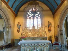 Eglise Notre-Dame d'Izel Vor - La Forêt-Fouesnant: l'église paroissiale Notre-Dame d'Izel-Vor, le choeur
