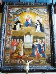Eglise Notre-Dame d'Izel Vor - La Forêt-Fouesnant: l'église paroissiale Notre-Dame d'Izel-Vor, tableau du Rosaire